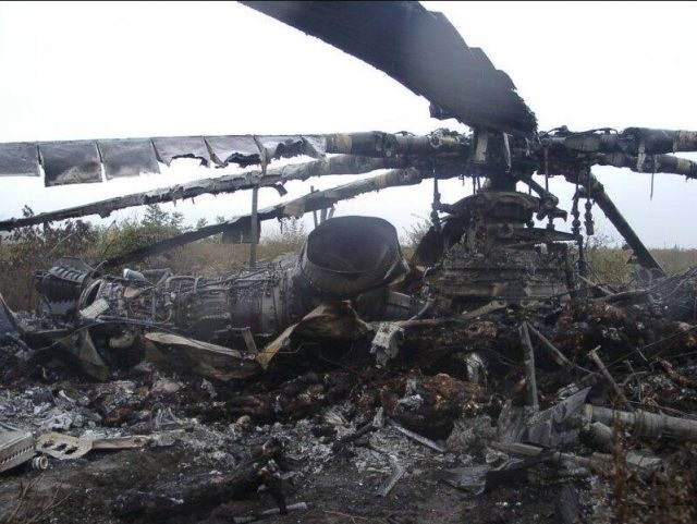 Ukrainian Helicopter Shot Down By Pro Russian