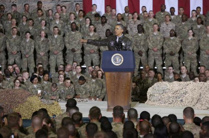 US President Barak Obama in Afghanistan