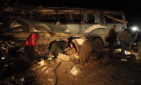 Double Suicide Attack on Shia Pilgrims near Taftan , Pakistan