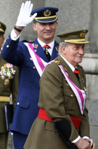 King Juan Carlos with Crown Prince Felipe