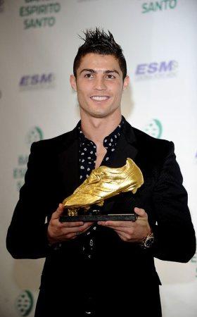 Cristiano Ronaldo Portugal Receives Golden Shoe