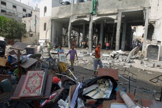 Palestinian Building in Gaza attacked By Israeli attacks