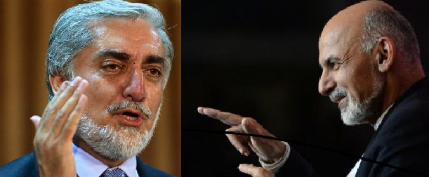 Presidential Election Candidates Ashraf Ghani and Abdullah Abdullah