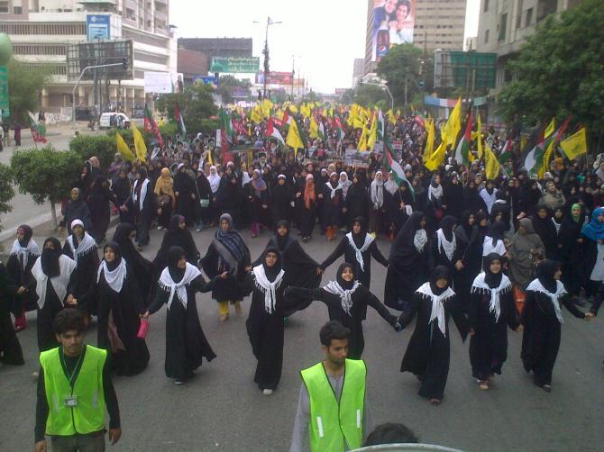 Quds Day in Karachi By ISO 2014 a