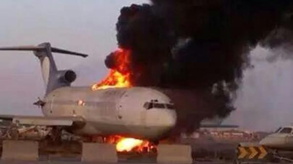 Tripoli Airport Attack Planes Burned Down. a