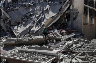 Cease Fire Once Again comes into effect in War Ravaged Gaza Strip , Palestine