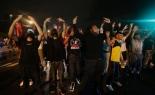 Curfew Violated in Ferguson , Missouri , USA