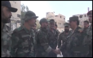 Defence Minsiter visits Recaptured Town of Mleiha