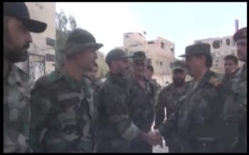 Defence Minsiter visits Recaptured Town of Mleiha