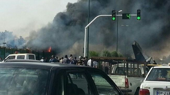 Iranian Plane Crashed in Tehran