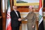 Iraq's Kurdish President Barzani with Irani FM Javad Zarif
