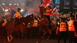 Clashes erupt in Glasgow , Scotland