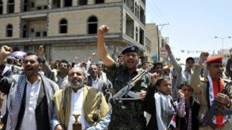 Shia Houthi Ansarallah Fighters take over State TV Station in Sanaa