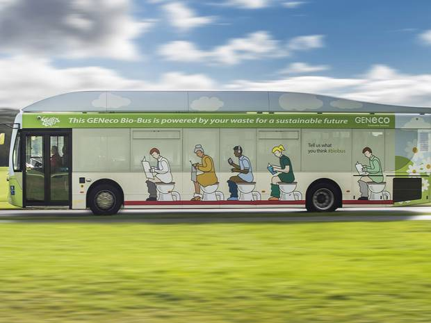 Bio Gas Powered Poo Bus