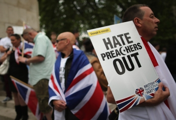 The BNP Hold A Demonstration In Central London