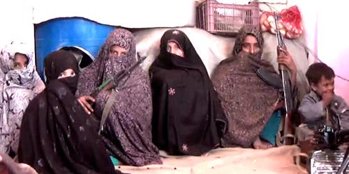 Reza Gul with Family - Afghan Mother Kills Taliban Fighter