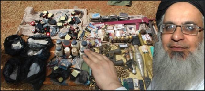 Explosives found from Lal Masjid Imam Maulana Abdul Aziz Associated Seminary
