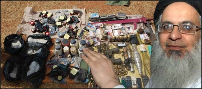 Explosives found from Lal Masjid Imam Maulana Abdul Aziz Associated Seminary