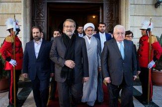 Irani Foreign Minster Meets Iraqi President Masoum