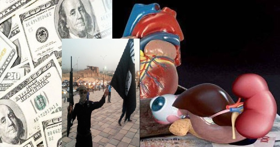 Estado Islâmico toma crianças cristãs, rasga seus corpos enquanto ainda estão vivas, extraem seus órgãos, e os envia para a Turquia e Arábia Saudita