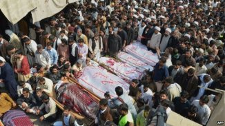 Funeral Prayer of the Suicide Blast Victims of Masjid e Karbala e Moala , Shikarpur , Pakistan