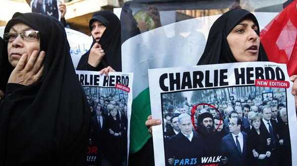 Mideast Iran Charlie Hebdo Protest