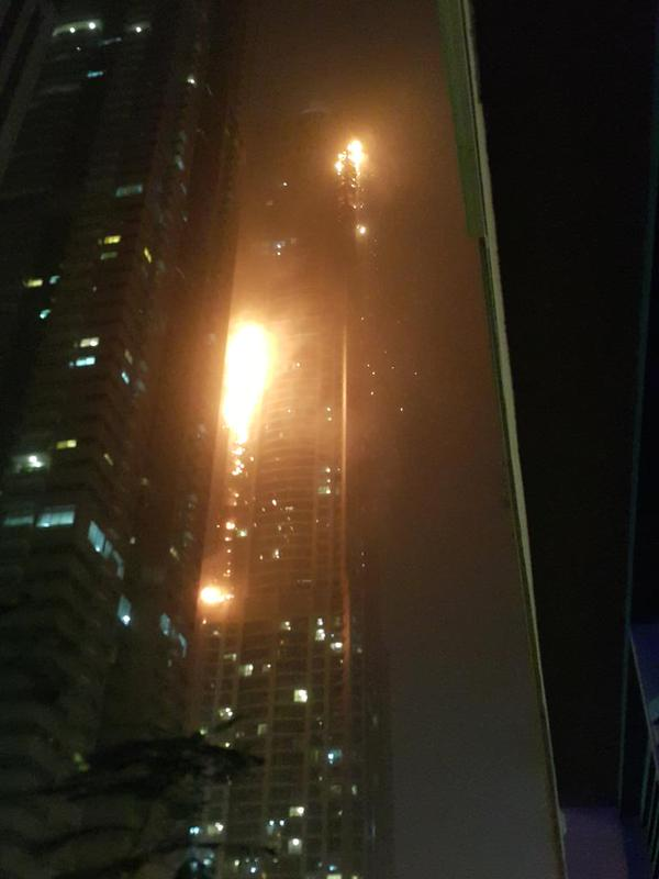 Marina Tower , Dubai Fire e
