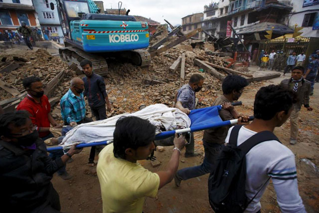 7.9 Richter Scale Earthquake in Khatmandu , Nepal