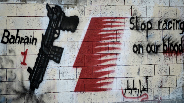 Bahraini Protest Against Formula 1 Grand Prix