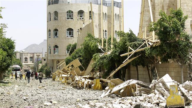 Sanaa ruined by Saudi Led Airstrikes