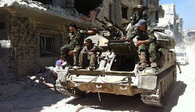 Syria army forces advance on militants in Aleppo
