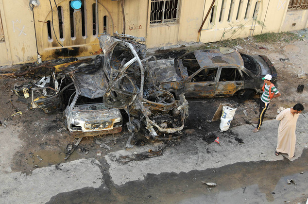 Multiple Car Bombing in Shiite Majority areas of Baghdad Martyrs atleast 16 Shia Men