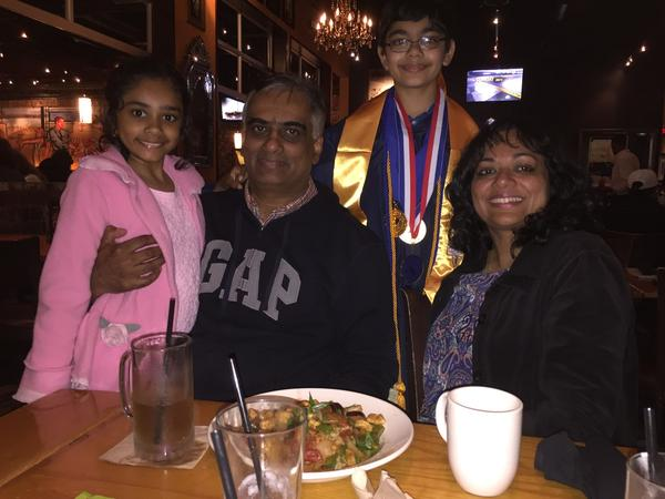 Tanishq Abraham , 11 Year Old Graduate with family