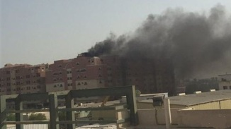 Fire in Saudi Residential Complex. a