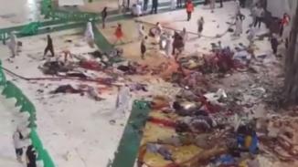 Crane Crashes on the Roof of Safa & Marwa Walkway in Holy Kabaa g