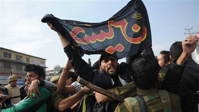 Ashura Procession Blocked in Occupied Kashmir 2015