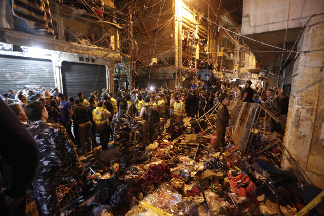 Double Suicide Attack in Shia Majority Area of Beirut. c