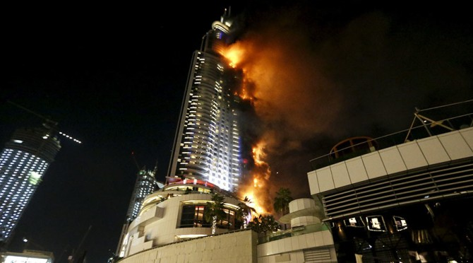 Dubai 5 Star Hotel Engulfs in Fire