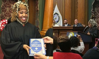 Judge Carolyn Walker-Diallo, US Muslim Woman , takes Oath as Civil Judge