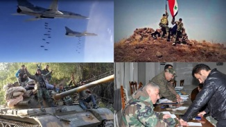 Russian Planes Pounding Terrorists , Militansts surrendering to Syrian forces