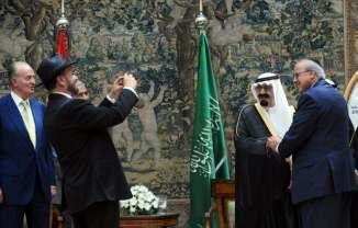 Saudi King Abdullah with Israeli President Benjamin Netanyahu