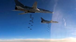 Нанесение авиаударов дальней авиацией ВКС России по ИГ