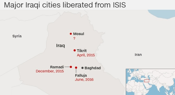 Major Iraqi Cities Liberated By Forces & Shia Militias